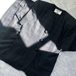 Kasper Skirts - Vintage Houndstooth Skirt Suit
